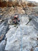 Rock Climbing Photo: Starting up Dryads.