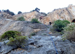 Rock Climbing Photo: In the corner crux.