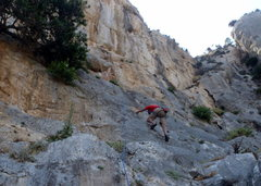 Rock Climbing Photo: Started up the slab.
