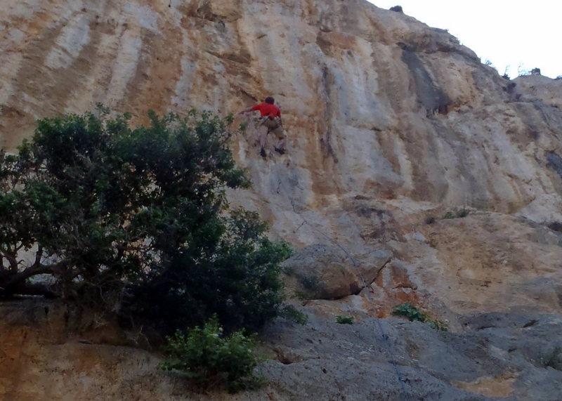 Rock Climbing Photo: In the crux.