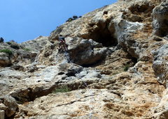 Rock Climbing Photo: Up high on KVR
