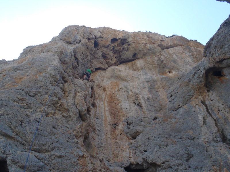 Mid way up