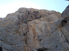 Rock Climbing Photo: Mid way up