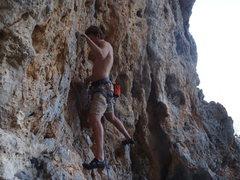 Rock Climbing Photo: Starting up Viva Fidel.