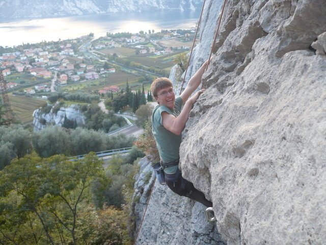 Rock Climbing Photo: Climbing in Arco, Italy (2010)