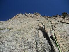 Rock Climbing Photo: 1st pitch of Rain Dance, 5.6.