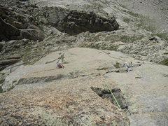 Rock Climbing Photo: Meggie Marsden following the 2nd pitch of Rain Dan...