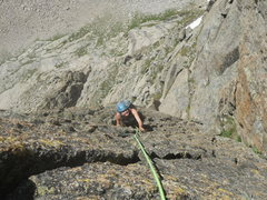 Rock Climbing Photo: Meggie Marsden following the 4th and last pitch of...