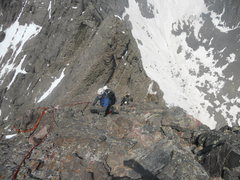 Rock Climbing Photo: Bryan Hendrick ascending the North Ridge of Cresto...