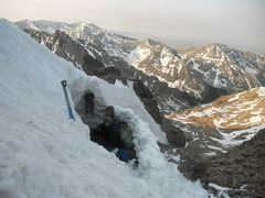 Rock Climbing Photo: Spring bivouac between the Peak and Needle, on the...