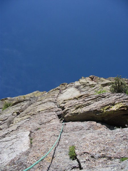 Rock Climbing Photo: View from base of El Cracko with Tyler about to re...