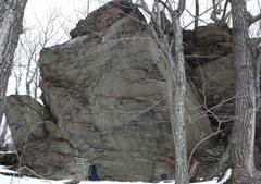 Rock Climbing Photo: one of first boulders as head up the A.T. and up/a...