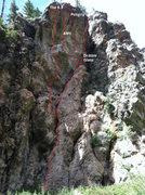 Rock Climbing Photo: Headwall routes.