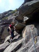 Rock Climbing Photo: Brad on pitch 2