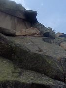 Rock Climbing Photo: Pitch 5 - 5.8 ceiling (similar to 5.8 triangular c...