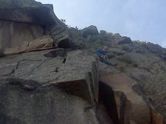 Rock Climbing Photo: Bradley White on First Ascent (Pitch 5)