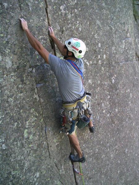 Rock Climbing Photo: John cruising the route.