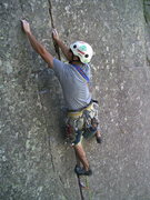 Rock Climbing Photo: John cruising the route.