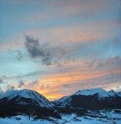 Rock Climbing Photo: Buffalo Mountain at sunset.