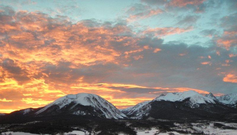 Buffalo Mountain at sunset.