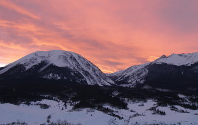 Rock Climbing Photo: Gore Range and Buffalo at sunset.
