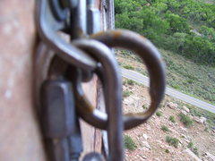 Rock Climbing Photo: This is why you use your own anchors for top ropin...