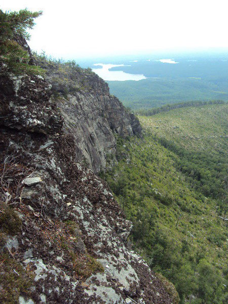 Linville Gorge, Shortoff Mountain, Maginot Line, looking south to Lake James.