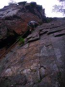 Rock Climbing Photo: Mike Best on Orange Corner