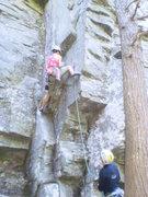 Rock Climbing Photo: Elena at the start of Jigsaw.