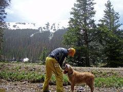 Ranger & me, Cameron Pass, July, 2011.