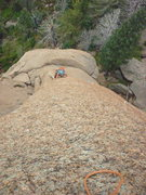 Rock Climbing Photo: Jory follows P2.