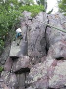 Rock Climbing Photo: James on Two-step
