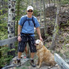 Ranger & me on a hike: Roaring Creek, Poudre Canyon, June, 2011.