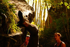 Rock Climbing Photo: Miles running All Hands on Deck, V5.