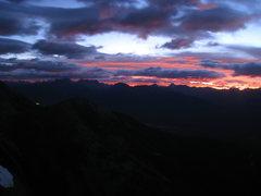 Rock Climbing Photo: Sunrise from the East Ridge of Mt. Temple