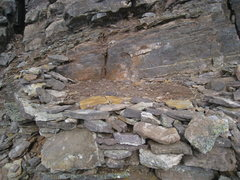 Rock Climbing Photo: The Bivy Site immediately at the top of the Big St...