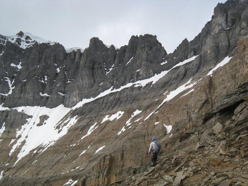 Rock Climbing Photo: Approaching the Black Towers.