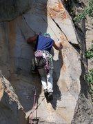 Rock Climbing Photo: Thin edges to a small crack