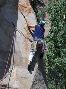 Rock Climbing Photo: Pulling the corner