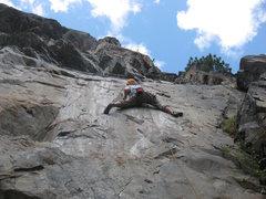 Rock Climbing Photo: Oscar leading Love You Long Time