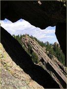 Rock Climbing Photo: A view through the Needle's Eye.