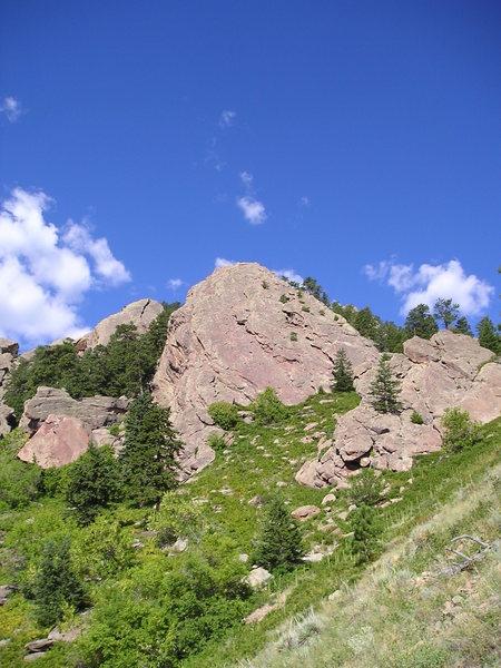 Approaching Hillbilly Rock.