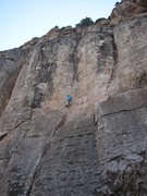 Rock Climbing Photo: The Fabulous Gordini starting the fun upper half