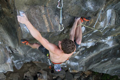 Rock Climbing Photo: otey, almost to the next rest