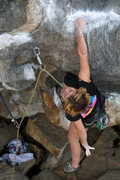 Rock Climbing Photo: taking a shake before the first business