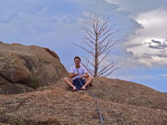 Rock Climbing Photo: Drew sitting at the summit.