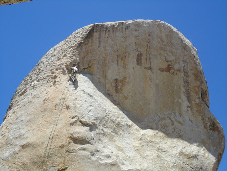 Rock Climbing Photo: Bolt line up the pinnacle.