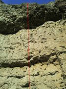 Rock Climbing Photo: Top out where the line ends, then walk left to the...