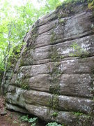 Rock Climbing Photo: The Hamburgular is the clean strek on the left and...