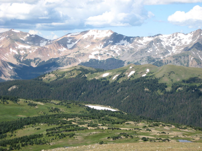 Ute Trail from Trail Ridge Road in RMNP<br> 8/11